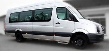 17-seater VW Crafter minibuses from JOYRIDE